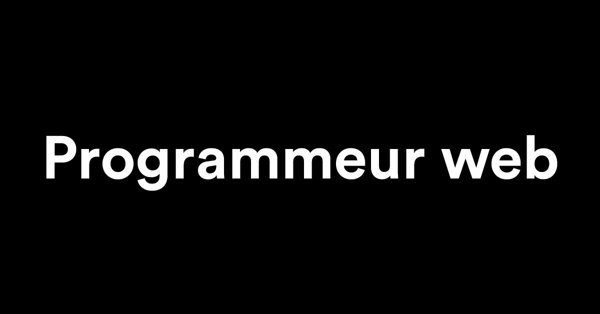 emploi programmeur web